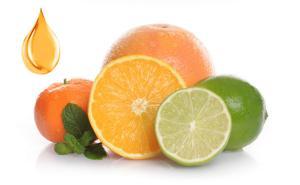 Citrus-Früchte in verschiedenen Verarbeitungsformen
